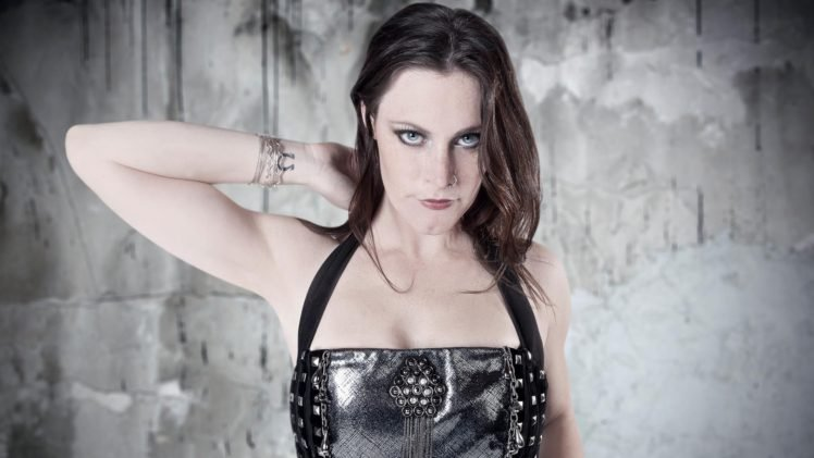 Floor Jansen, Nightwish, Women, Leather clothing, Brunette, Singer HD Wallpaper Desktop Background