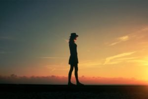 women, Sunset, Nature