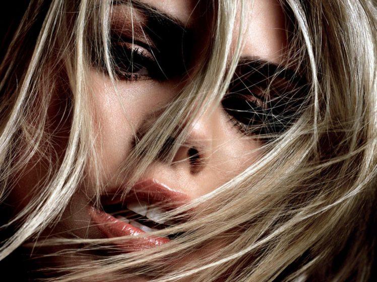 Billie Piper, Hair in face, Blonde, Face, Closeup HD Wallpaper Desktop Background