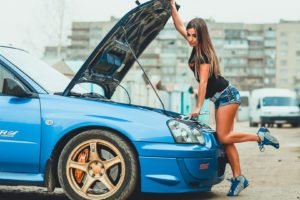Irina Vysockaya, Women, Model, Car, STI, Subaru