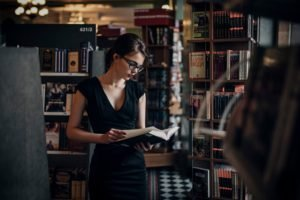 women, Russian, Books, Library, Book store