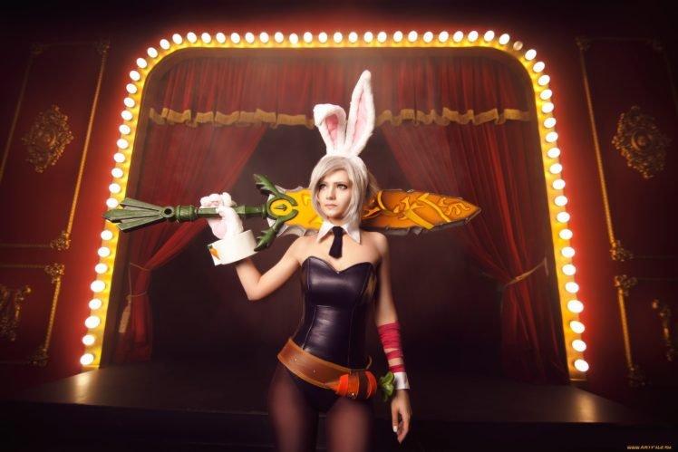women, Cosplay, Riven, League of Legends, Iscariot Elian HD Wallpaper Desktop Background