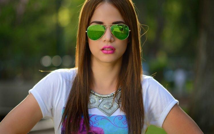 women, Model, Glasses, Lipstick, Face HD Wallpaper Desktop Background