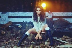 Diana Drigor, Women, Model, Lights