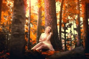 Samantha Meglioli, Women, Model, Blonde, Trees