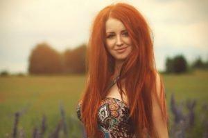 women, Model, Redhead