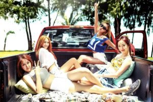 Sistar Kpop, South Korea, Asian, Women, Car, Group of women