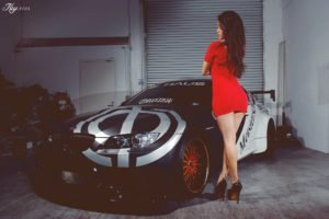 Keith Cheng, Model, Women, Asian, Sports car, Red dress
