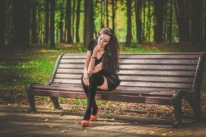 women, Model, Nature, Trees