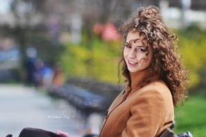 women, Curly hair