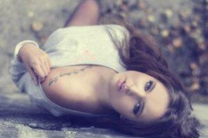 women, Model, Tattoo, Face, Walls