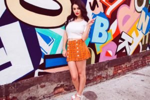 Charlotte Emma, Women, Short skirt, Walls, Graffiti, Charli XCX