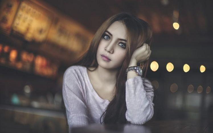 women, Model, Face, Asian HD Wallpaper Desktop Background