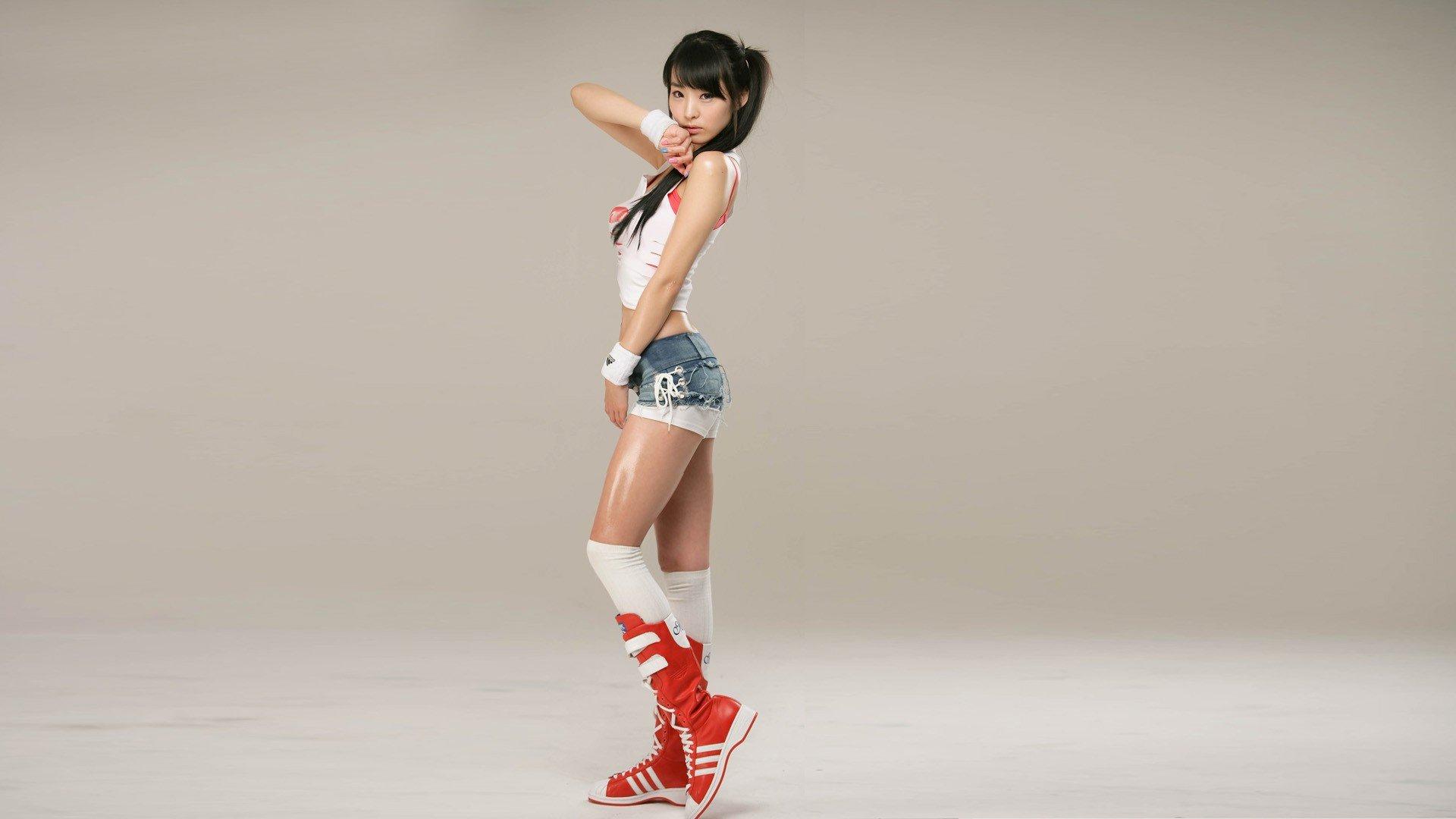 women, Model, Asian, South Korea, Jean shorts Wallpaper