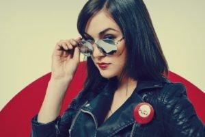 Sasha Grey, Women, Glasses, Face, Jacket, Portrait