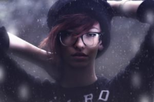 women, Model, Glasses, Face, Portrait