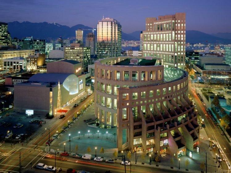 Vancouver, Library, City, Architecture HD Wallpaper Desktop Background