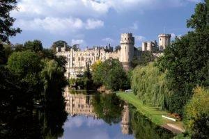 castle, Warwick, England, UK, Reflection