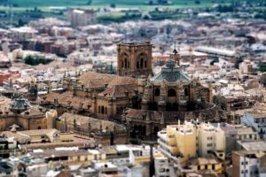 cityscape, Building, Tilt shift, Spain, Granada