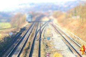 railway, Blurred, Tilt shift