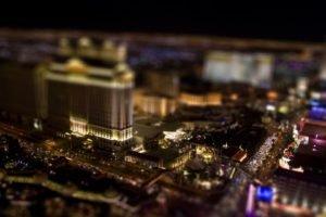 tilt shift, Cityscape, Las Vegas, Lights