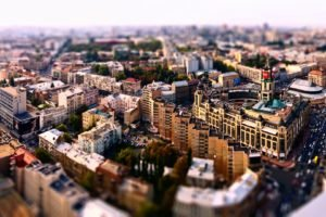 cityscape, Building, Blurred, Kiev, Ukraine