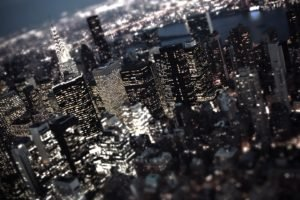 cityscape, Tilt shift, Skyscraper, Lights, New York City