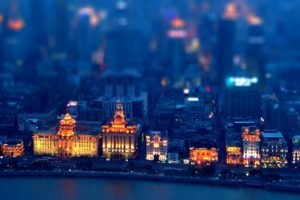 cityscape, Blurred, Lights, Building, Tilt shift, Shanghai