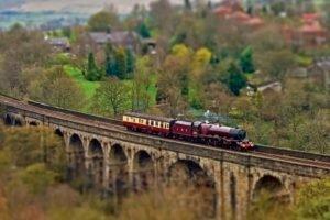 train, Blurred, Tilt shift