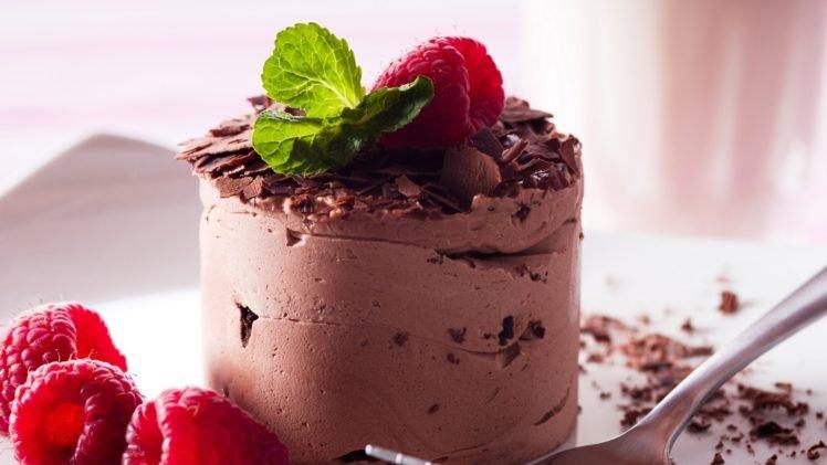 cakes, Raspberries, Desserts HD Wallpaper Desktop Background