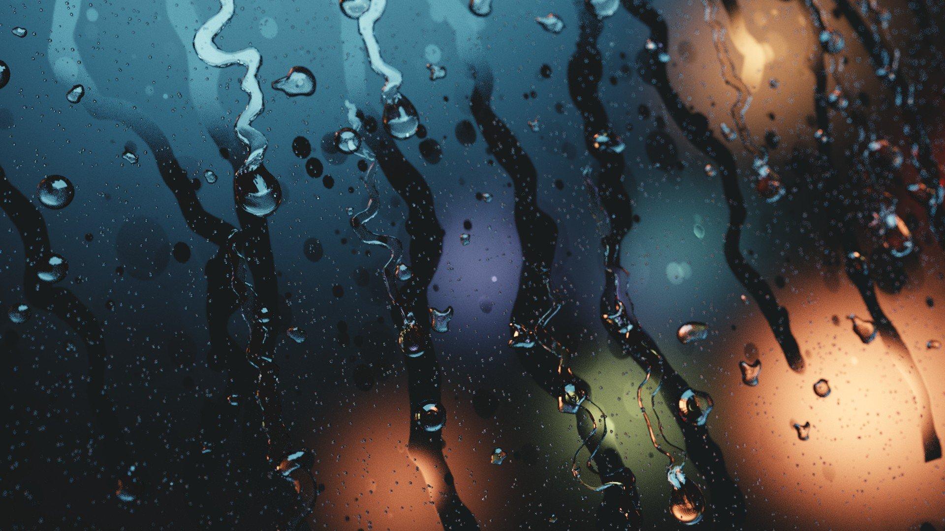 Water On Glass Streaks Blurred Hd Wallpapers Desktop And