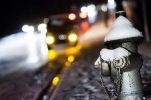 snow, Blurred, Fire hydrants, Bokeh, Depth of field