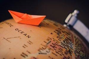 globes, Macro, Paper boats
