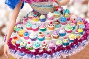 closeup, Cupcakes, Skirt