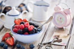 food, Blueberries, Raspberries