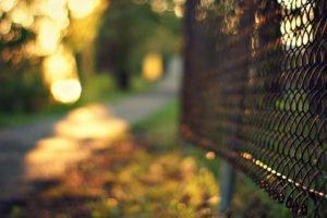 fence, Road, Blurred, Bokeh, Depth of field