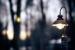 blurred, Lights, Street light, Bokeh