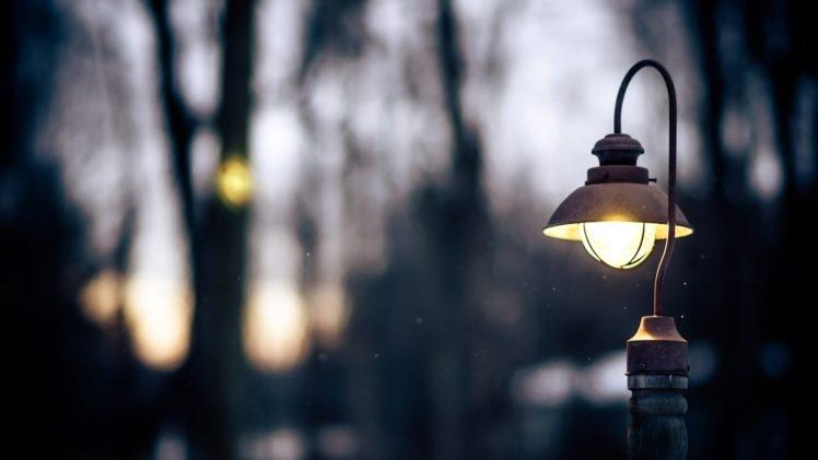 blurred lights street light bokeh hd wallpapers