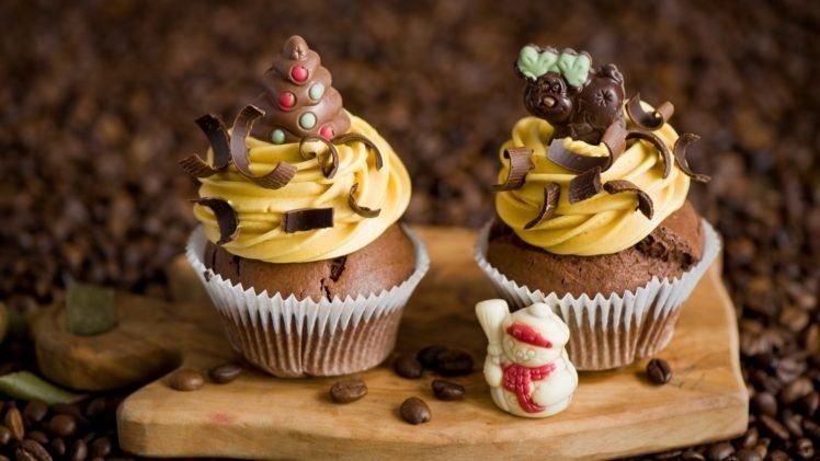 cupcakes, Food, Desserts, Chocolate HD Wallpaper Desktop Background