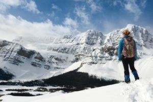 blonde, Mountain, Snow