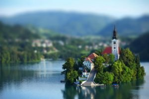 blurred, Church, Tilt shift