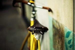 bicycle, Blurred, Brooks saddle