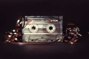 tape, Music, Black background
