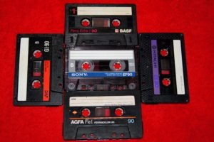 tape, Music, Red background