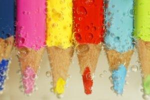 pencils, Bubbles, Colorful