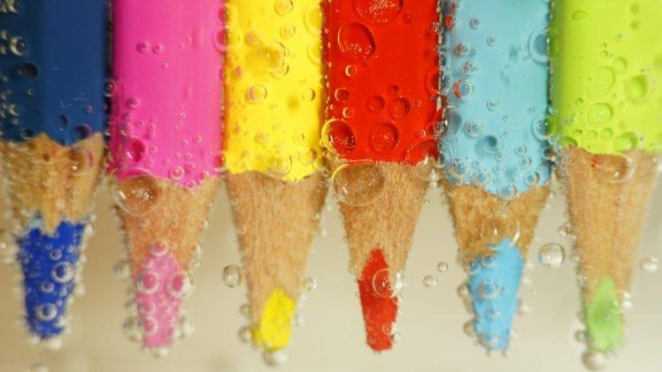 pencils, Bubbles, Colorful HD Wallpaper Desktop Background