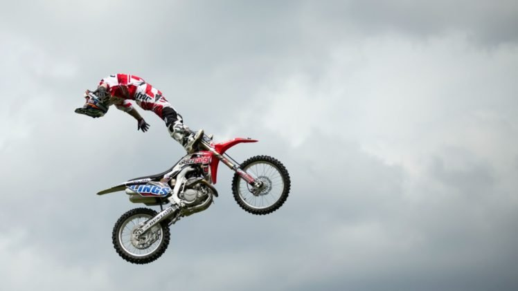 motocross, Stunts HD Wallpaper Desktop Background