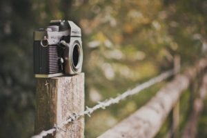 barbed wire, Camera, Fence, Bokeh, Depth of field