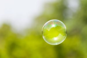bubbles, Floating, Blurred