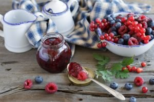food, Blueberries, Raspberries, Cherries